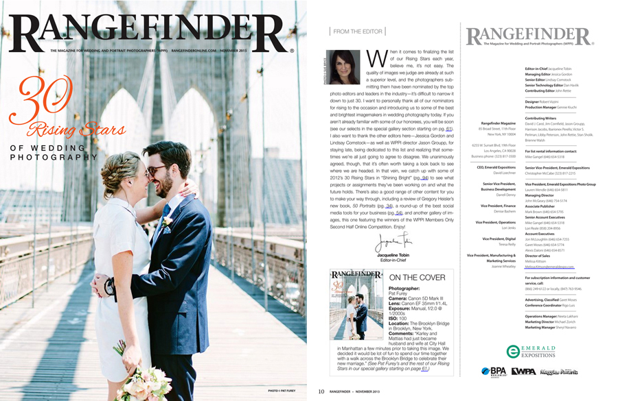 1cover3 Rangefinder Magazines 30 Rising Stars of Wedding Photography