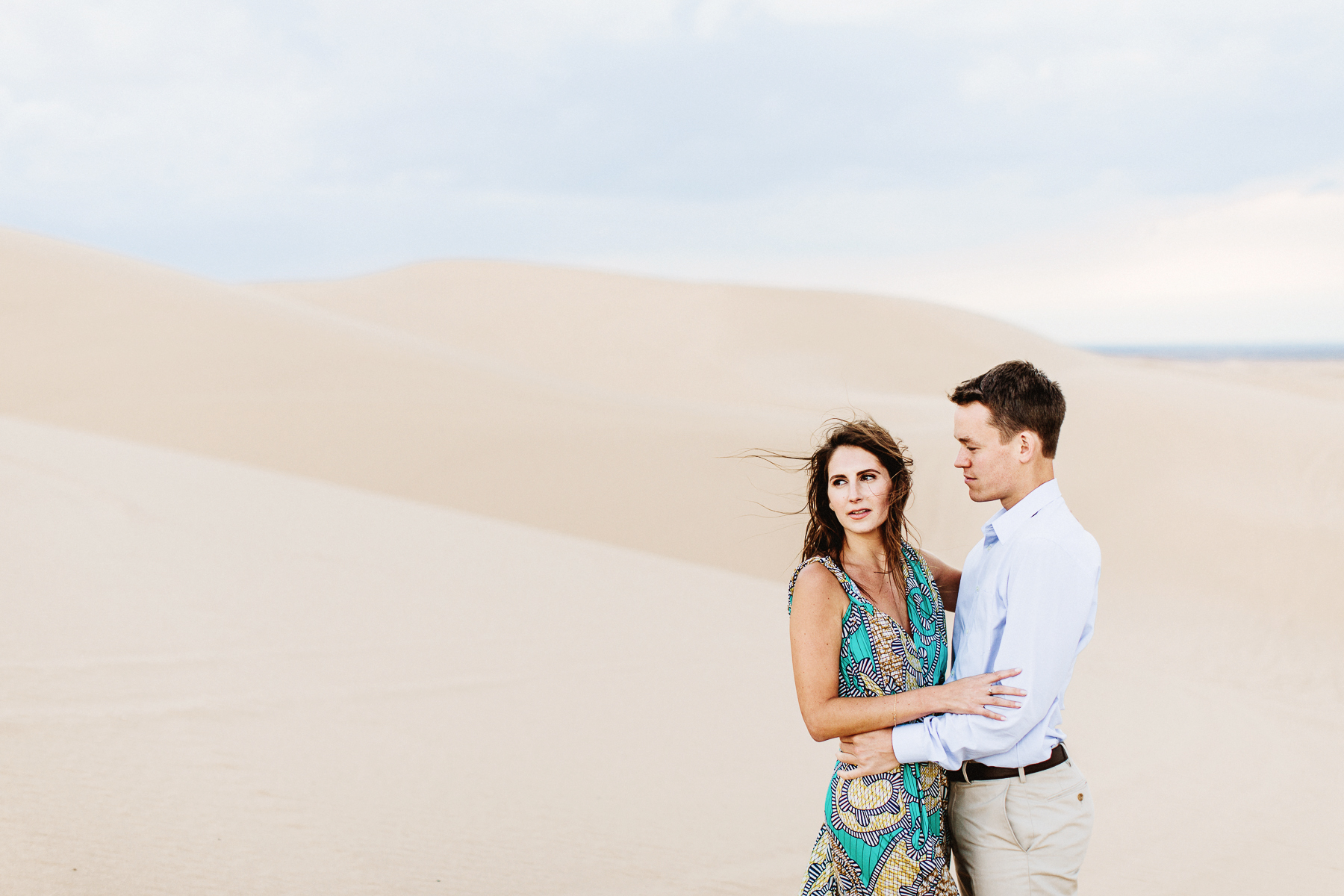sand dunes engagement shoot
